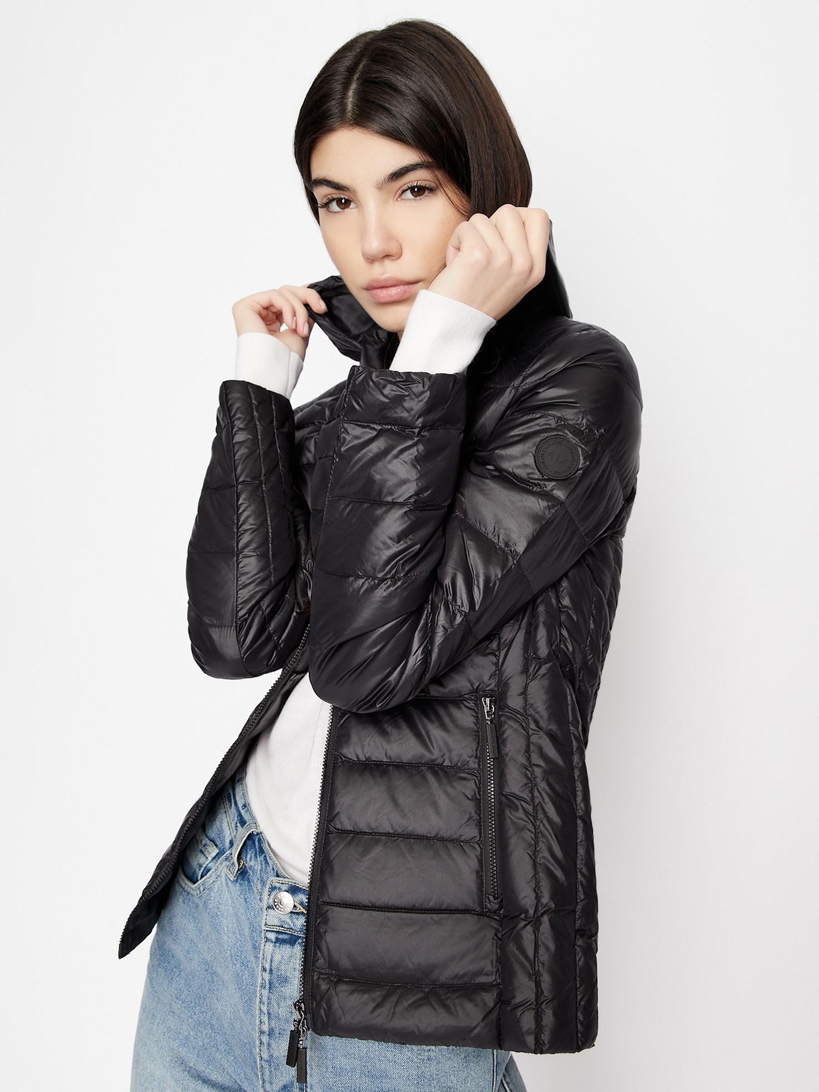 Купить Пальто пуховое женские модель QZ1619, Armani Exchange, Синий