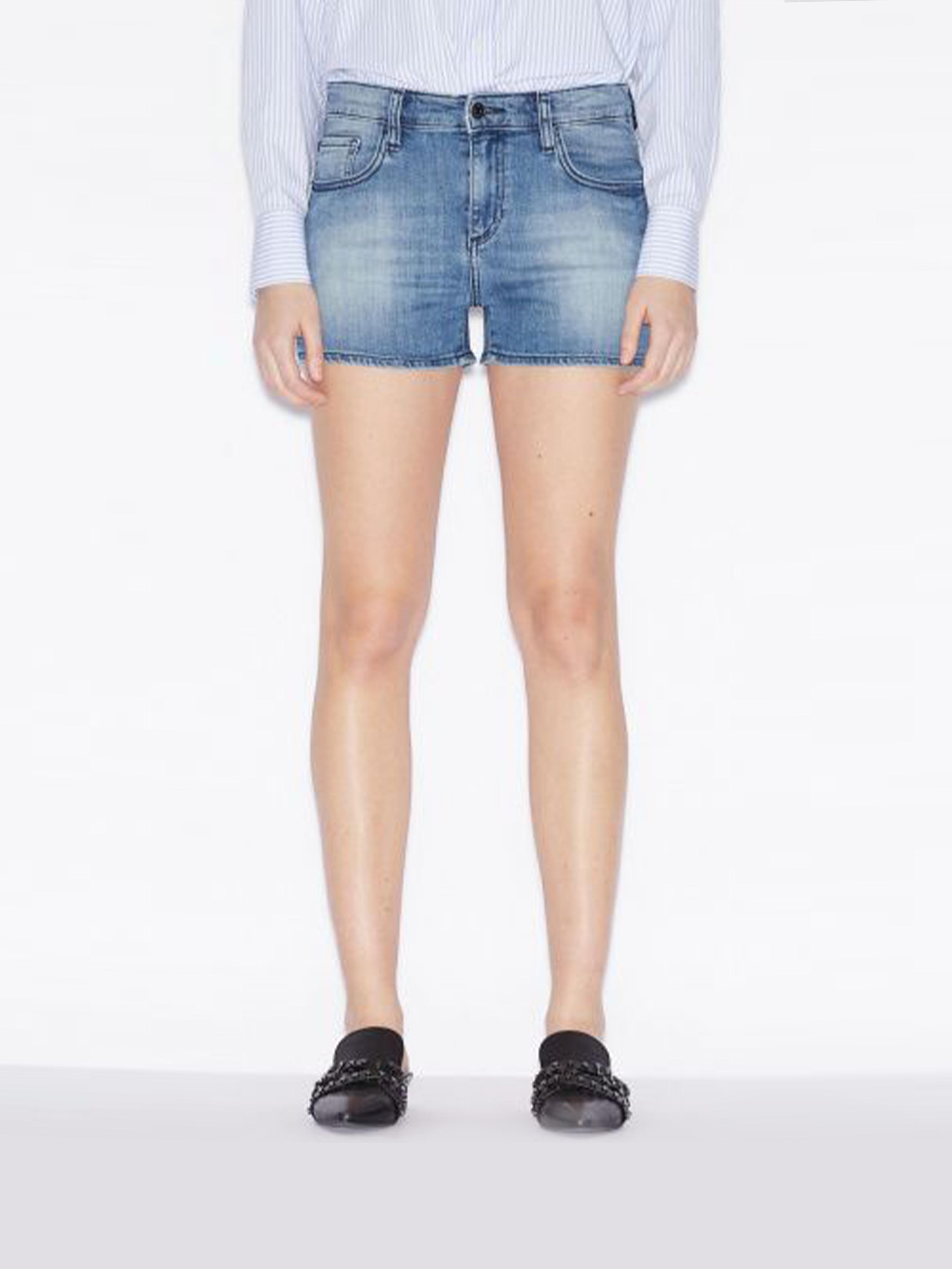 Купить Шорты женские модель QZ1791, Armani Exchange, Синий