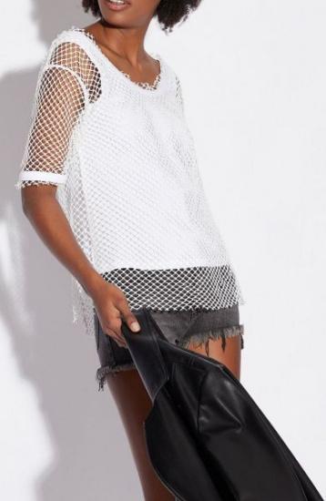 Блуза з коротким рукавом Armani Exchange модель 3GYMAK-YJY5Z-1100 — фото 2 - INTERTOP