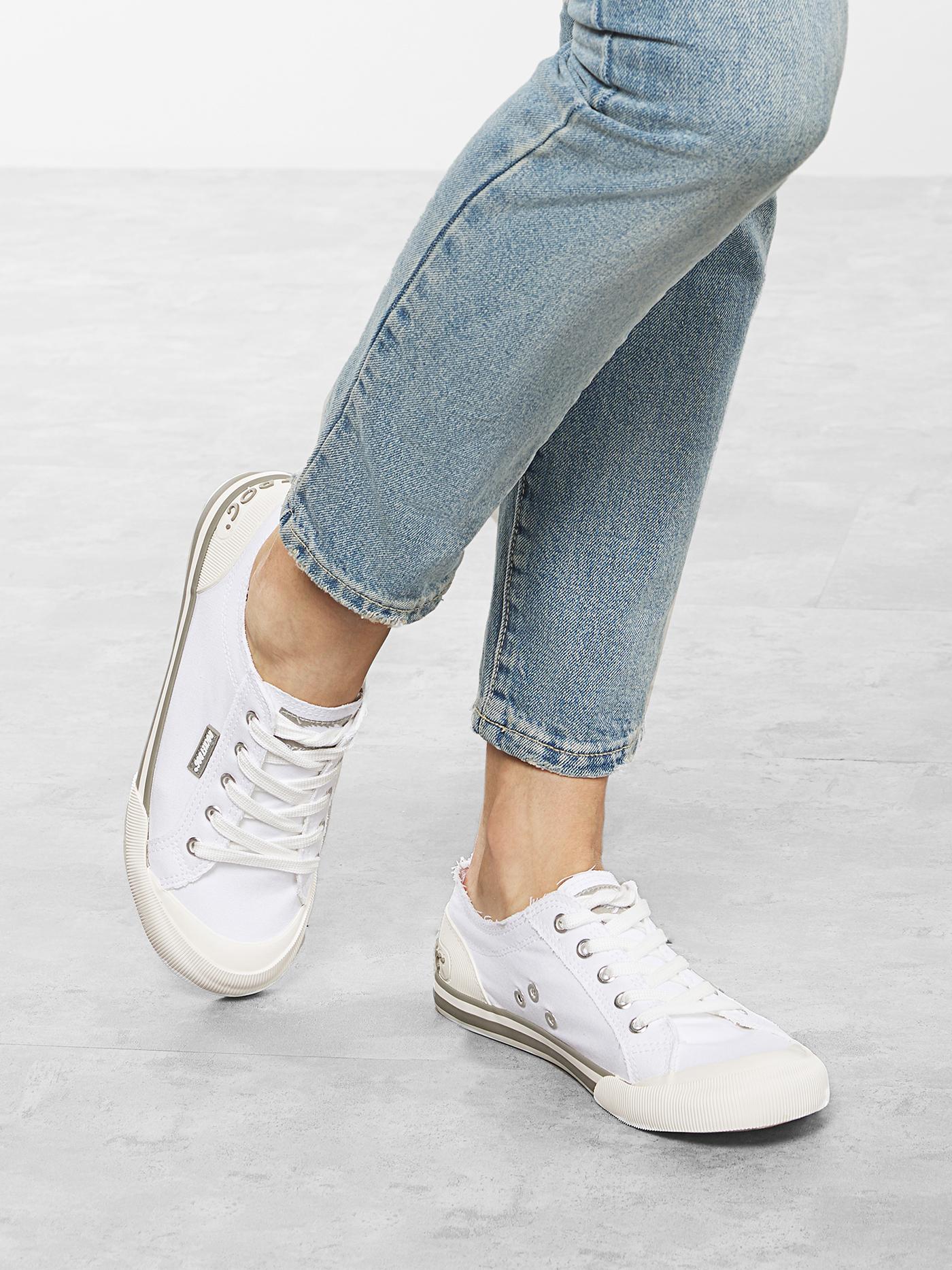 Кеди  для жінок Rocket Dog 8A CANVAS JAZZIN WHITE брендове взуття, 2017