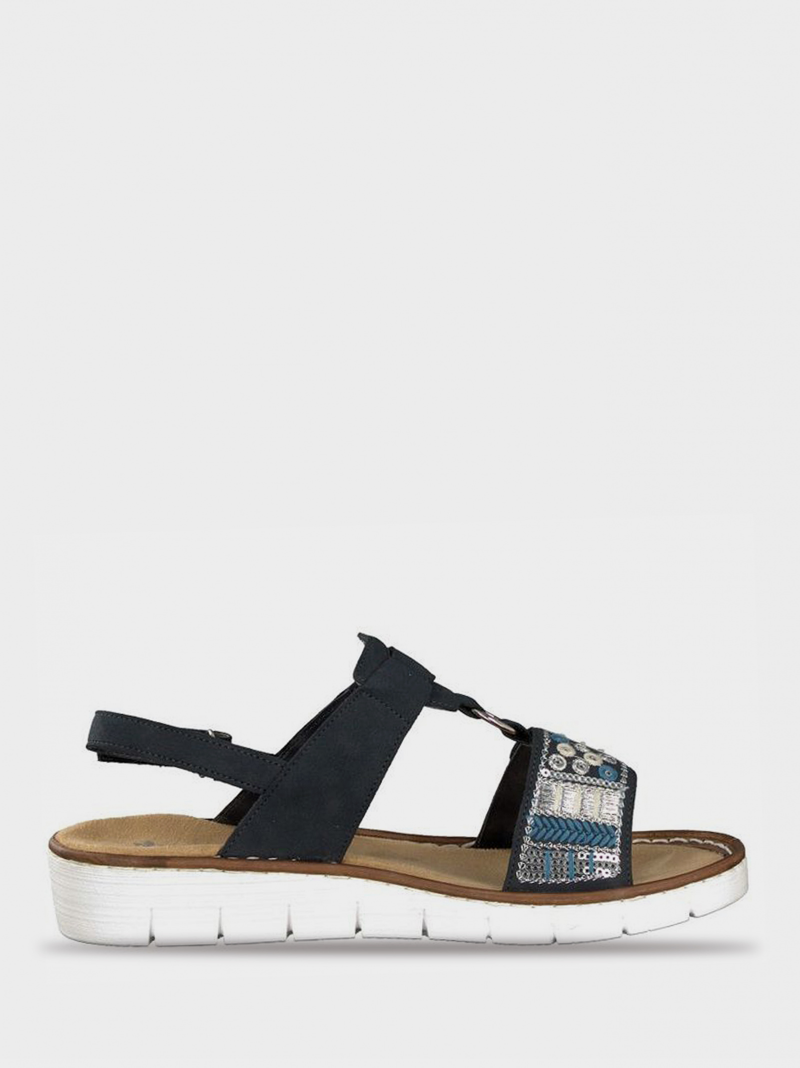 Сандалі  жіночі RIEKER сандалі жін. (36-41) 600D8/14 ціна взуття, 2017