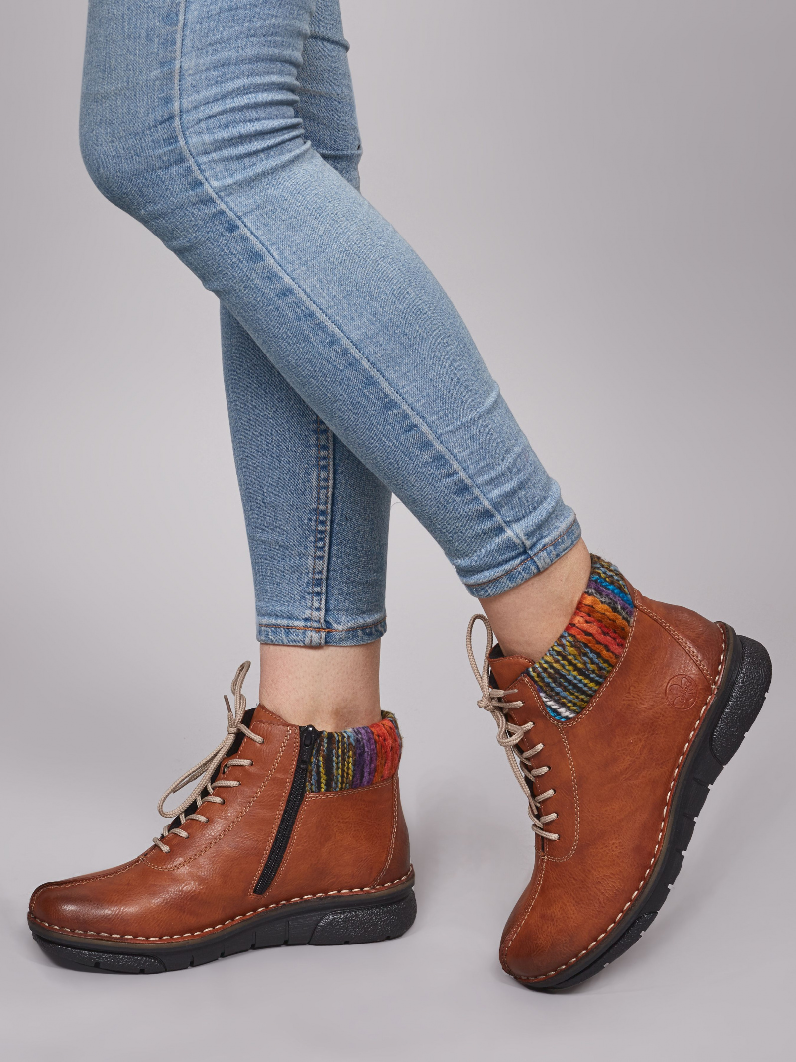 Ботинки для женщин RIEKER 73341/24 модная обувь, 2017
