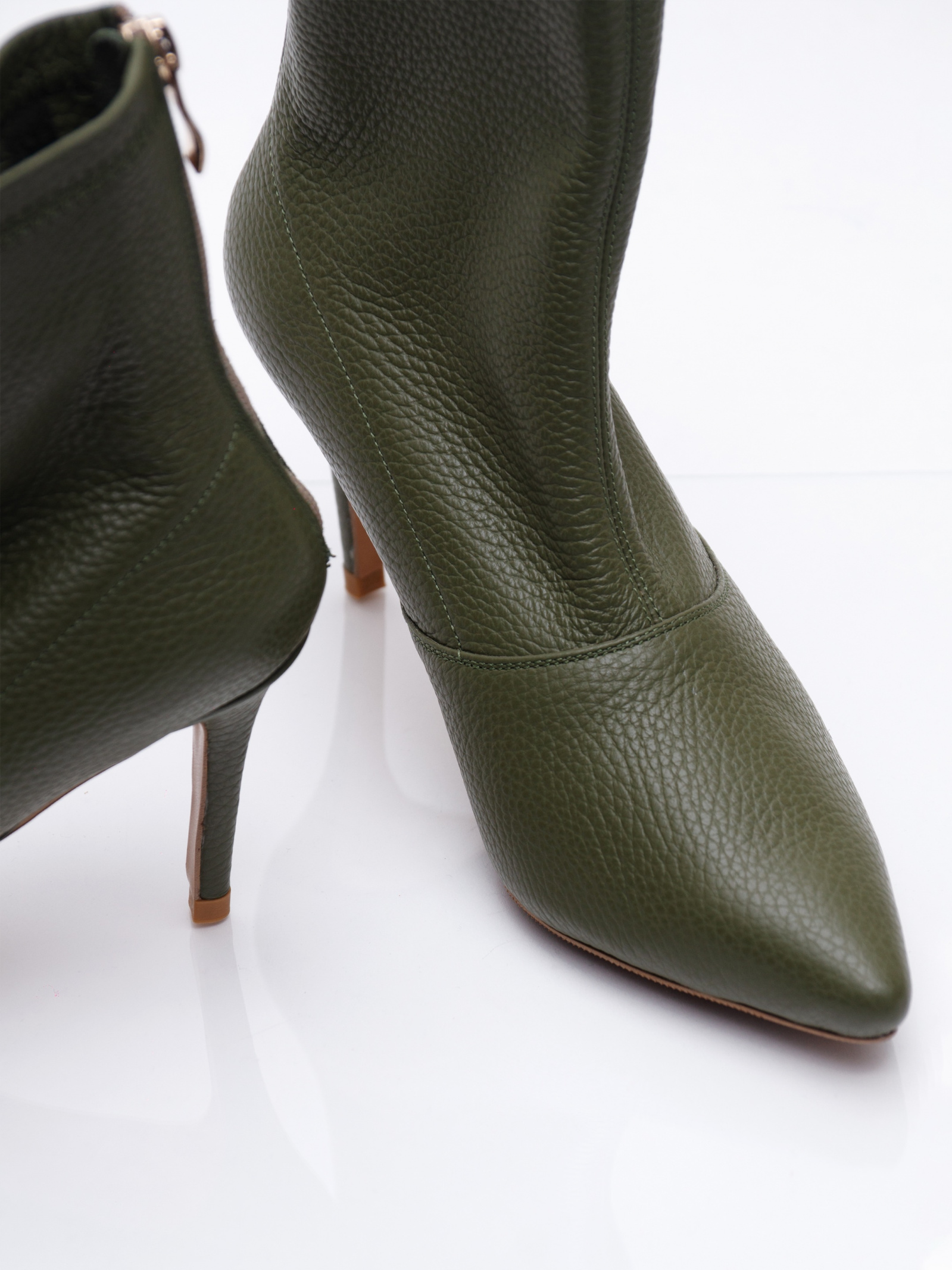 Черевики  для жінок Nazary Rainbow-olive брендове взуття, 2017