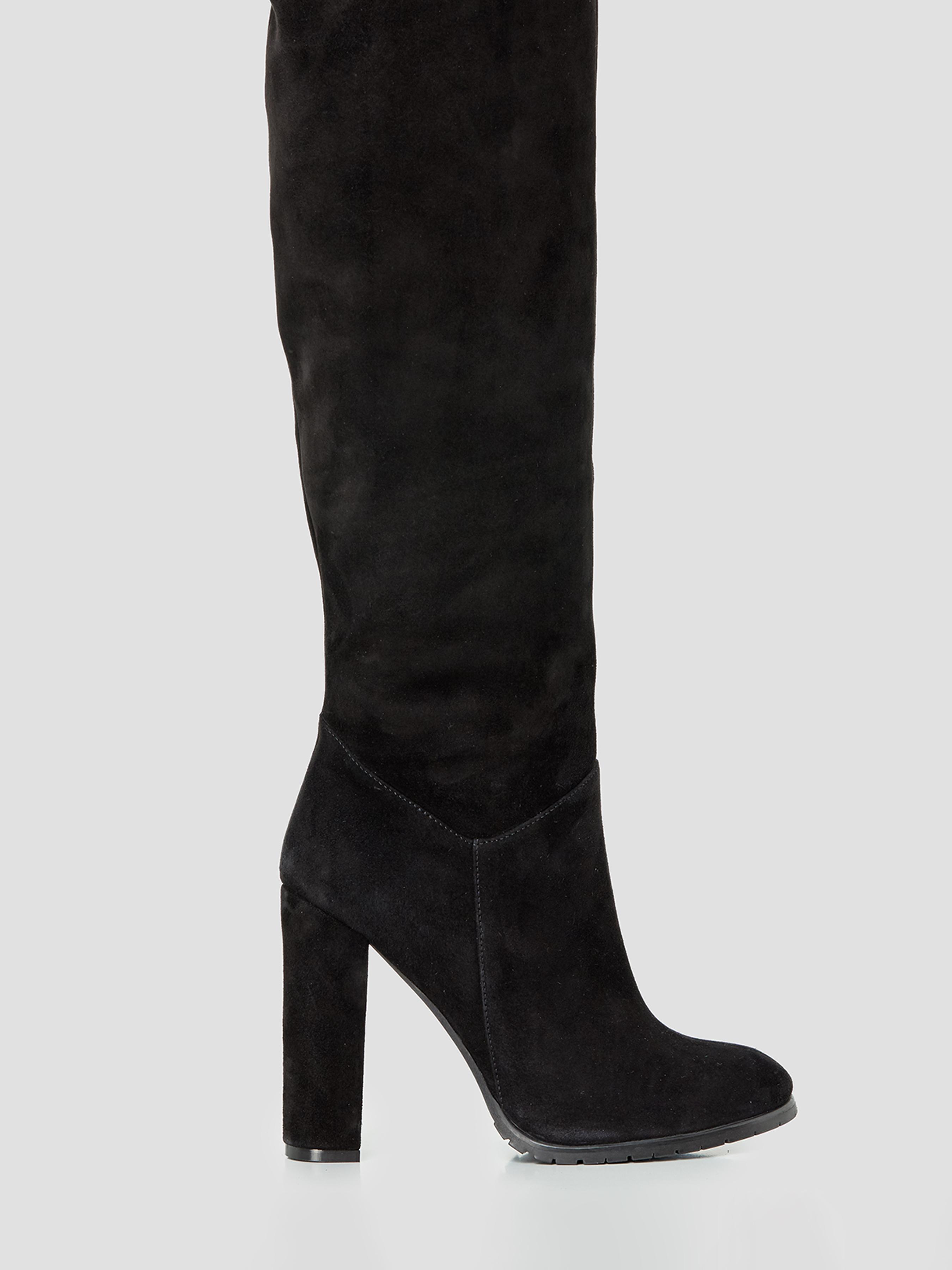 Купить Сапоги женские Зимние сапоги из велюра на устойчивом каблуке SP005VE1EVRM91, Natali Bolgar, Черный
