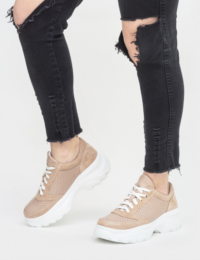 Кросівки  для жінок Кроссовки T817-75-95 бежевая кожа/замша T817-75-95 фото, купити, 2017