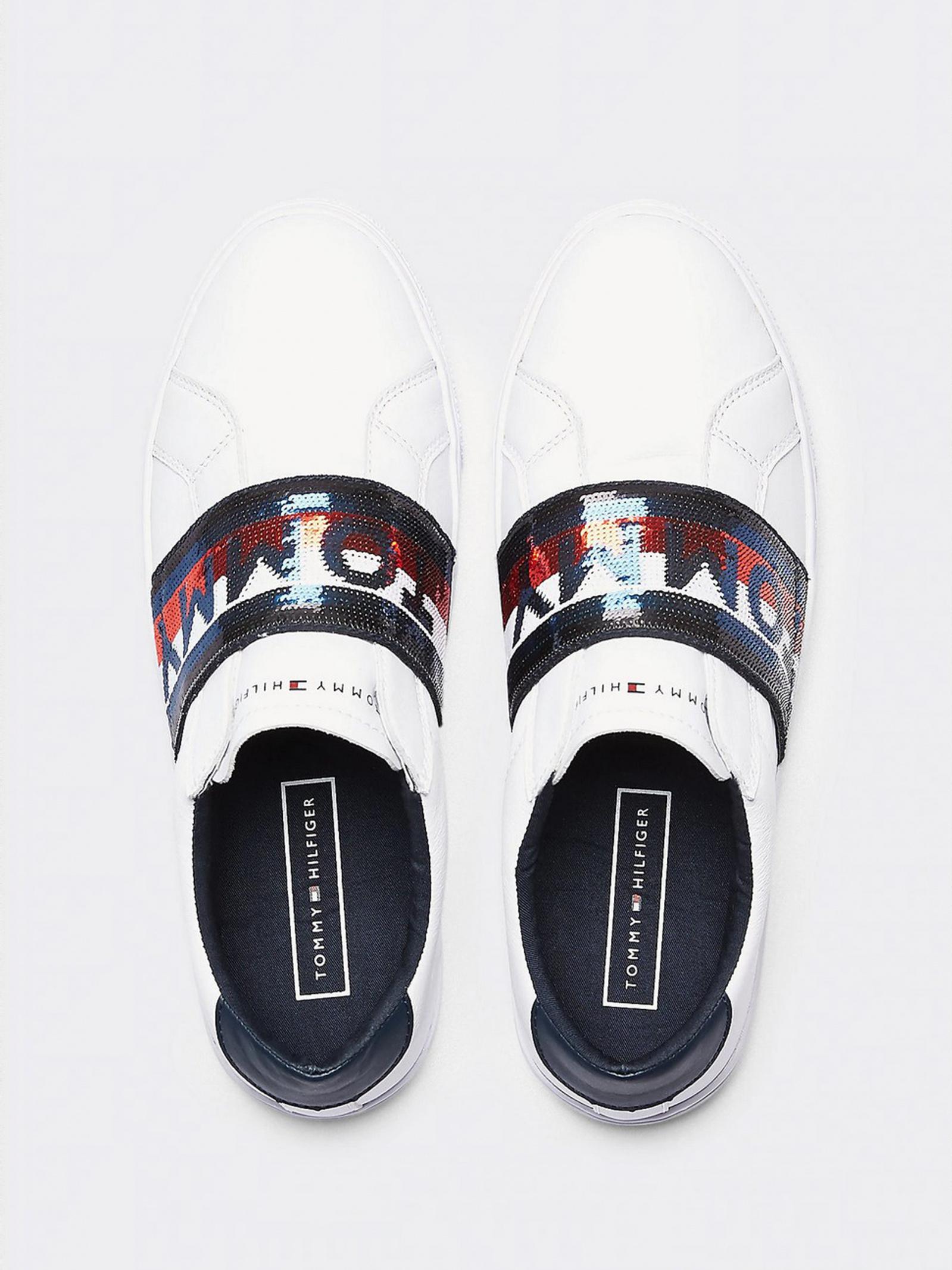 Кеди  для жінок Tommy Hilfiger GLITTER ELASTIC SLIP ON SNEAKE FW0FW04711-YBS купити онлайн, 2017