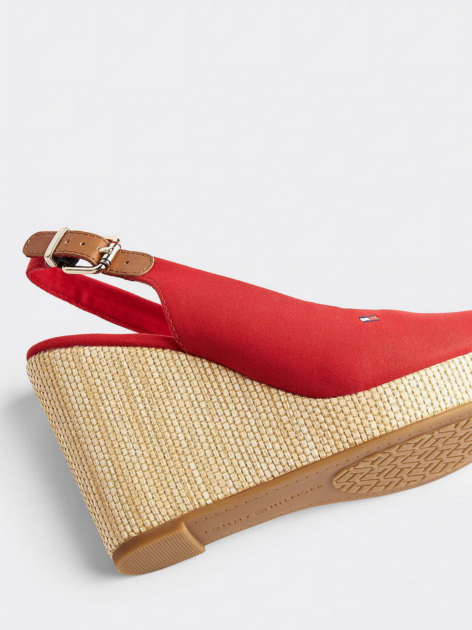 Босоніжки  для жінок Tommy Hilfiger ICONIC ELENA SLING BACK WEDGE FW0FW04789-XLG розмірна сітка взуття, 2017