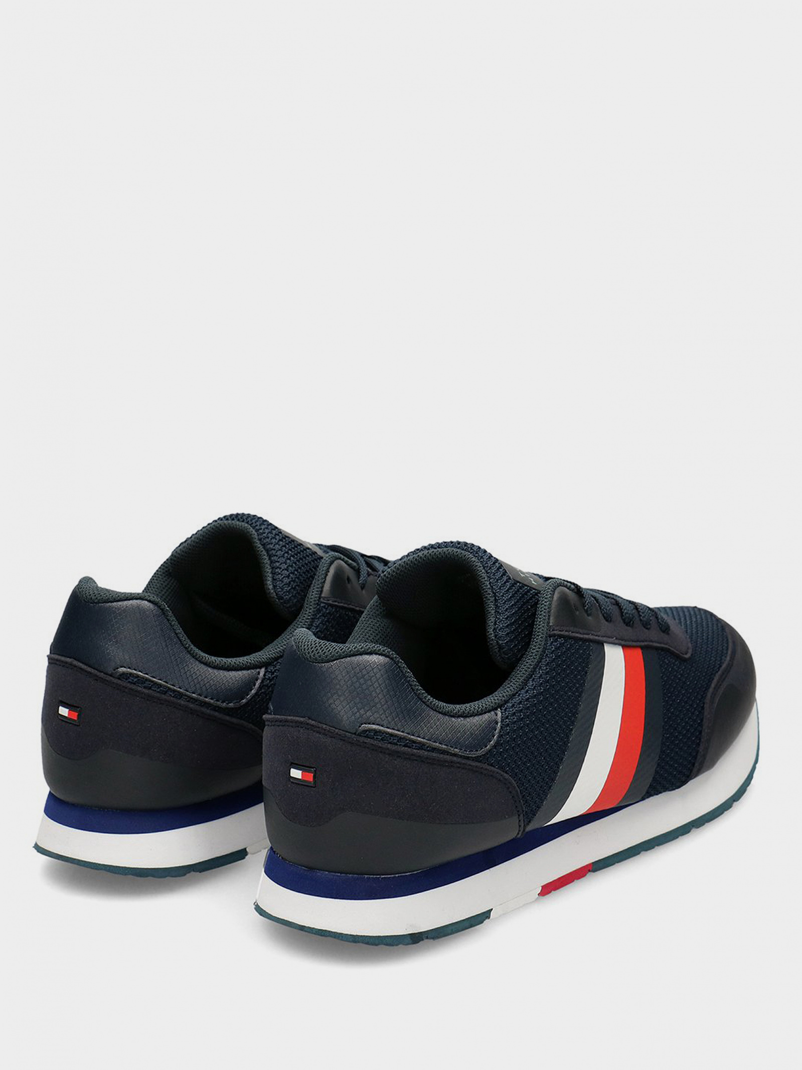 Кроссовки для мужчин Tommy Hilfiger CORPORATE MATERIAL MIX RUNNER FM0FM02688-DW5 размерная сетка обуви, 2017
