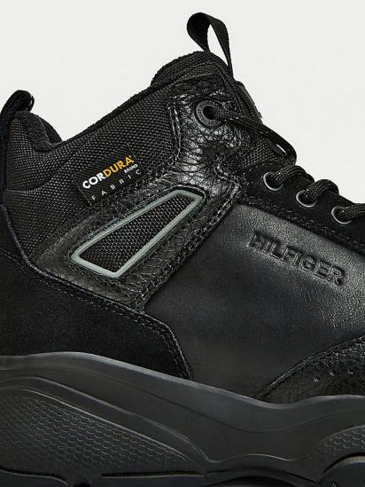 Кросівки для міста Tommy Hilfiger High Sneaker Leather модель FM0FM03273-BDS — фото 4 - INTERTOP