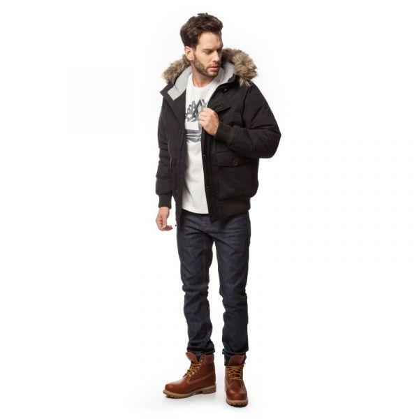 Куртка синтепоновая мужские Timberland TH4806 примерка, 2017