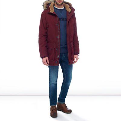 Куртка пуховая мужские Timberland TH5067 примерка, 2017