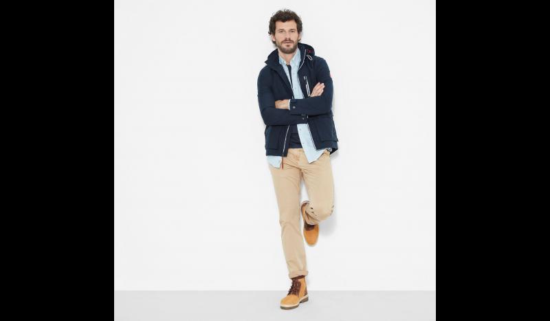 Куртка мужские Timberland HOODED PIER JACKET DARK SAPPHI TH5109 фото одежды, 2017
