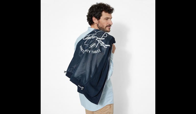 Куртка мужские Timberland HOODED PIER JACKET DARK SAPPHI TH5109 цена, 2017
