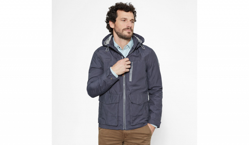 Куртка для мужчин Timberland HOODED PIER JACKET EBONY TH5111 фото, купить, 2017