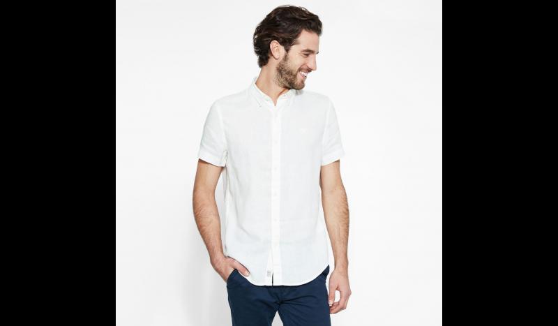 Рубашка с коротким рукавом мужские Timberland SHORT SLEEVE LINEN SHIRT PICKE TH5138 выбрать, 2017