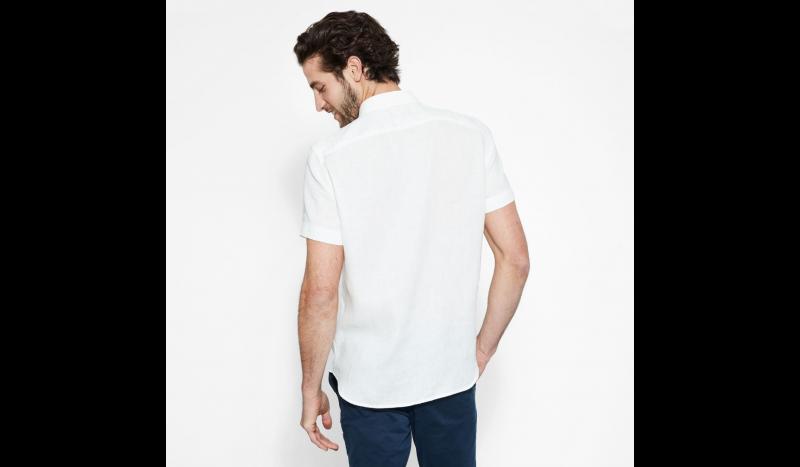 Рубашка с коротким рукавом мужские Timberland SHORT SLEEVE LINEN SHIRT PICKE TH5138 модные, 2017