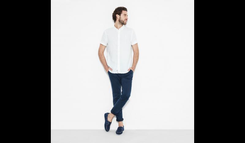 Рубашка с коротким рукавом мужские Timberland SHORT SLEEVE LINEN SHIRT PICKE TH5138 купить в Украине, 2017