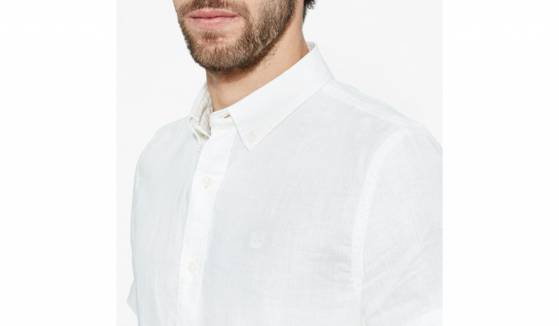 Рубашка с коротким рукавом мужские Timberland SHORT SLEEVE LINEN SHIRT PICKE TH5138 в Украине, 2017
