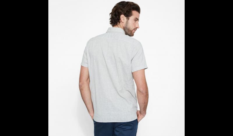 Рубашка с коротким рукавом мужские Timberland SHORT SLEEVE COTTON LINEN CHAM TH5147 модные, 2017