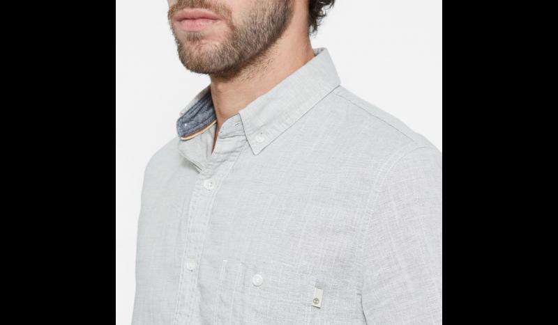 Рубашка с коротким рукавом мужские Timberland SHORT SLEEVE COTTON LINEN CHAM TH5147 в Украине, 2017