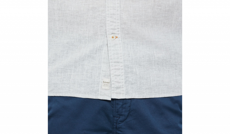 Рубашка с коротким рукавом мужские Timberland SHORT SLEEVE COTTON LINEN CHAM TH5147 модная одежда, 2017