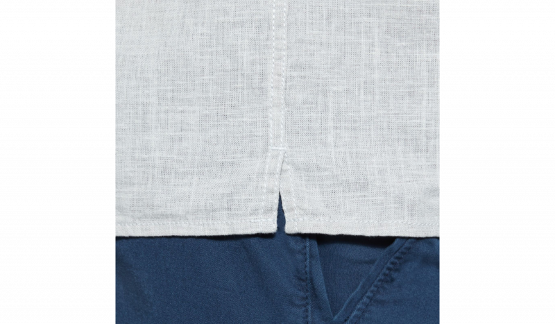 Рубашка с коротким рукавом мужские Timberland SHORT SLEEVE COTTON LINEN CHAM TH5147 фото одежды, 2017