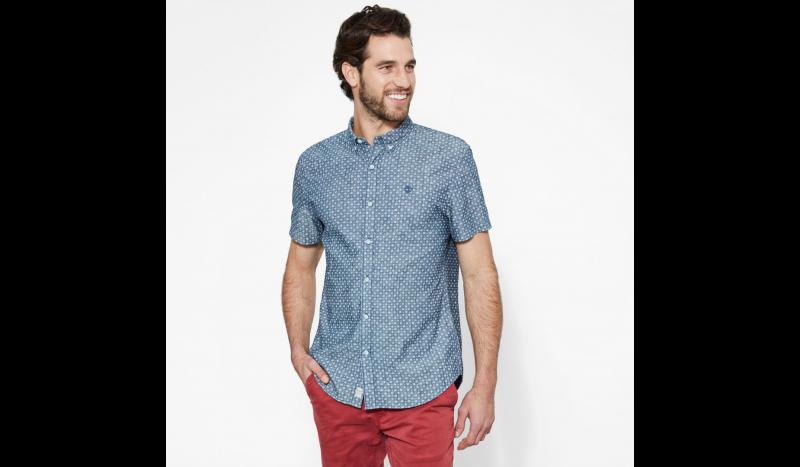 Рубашка с коротким рукавом мужские Timberland SHORT SLEEVE MULTIPATTRN INDGO TH5148 выбрать, 2017