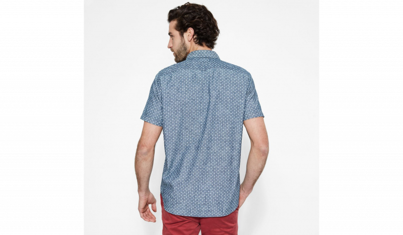 Рубашка с коротким рукавом мужские Timberland SHORT SLEEVE MULTIPATTRN INDGO TH5148 модные, 2017