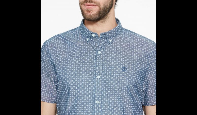 Рубашка с коротким рукавом мужские Timberland SHORT SLEEVE MULTIPATTRN INDGO TH5148 в Украине, 2017