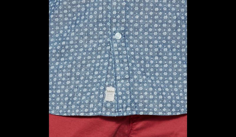 Рубашка с коротким рукавом мужские Timberland SHORT SLEEVE MULTIPATTRN INDGO TH5148 модная одежда, 2017