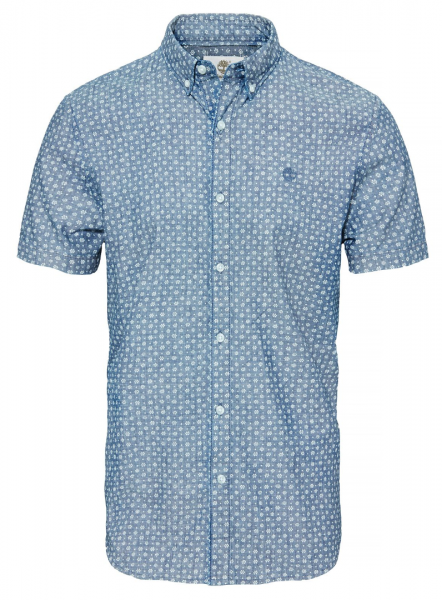 Рубашка с коротким рукавом мужские Timberland SHORT SLEEVE MULTIPATTRN INDGO TH5148 размерная сетка одежды, 2017