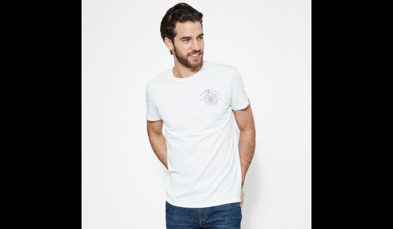 Футболка для мужчин Timberland BACK LOGO TEE PICKET FENCE TH5157 одежда бренда, 2017