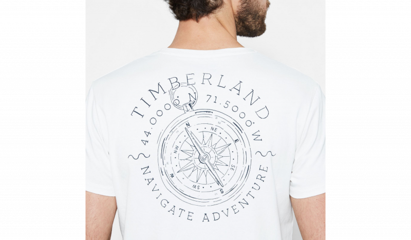 Футболка для мужчин Timberland BACK LOGO TEE PICKET FENCE TH5157 размеры одежды, 2017