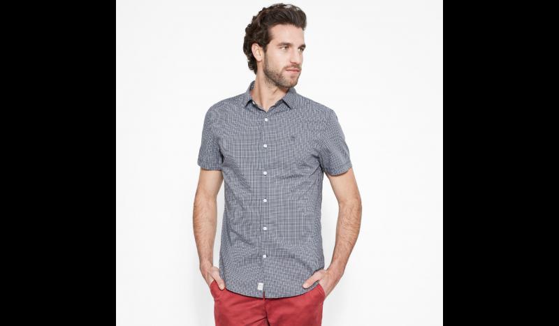 Рубашка с коротким рукавом мужские Timberland SHORT SLEEVE CHECK POPLIN EBON TH5164 выбрать, 2017