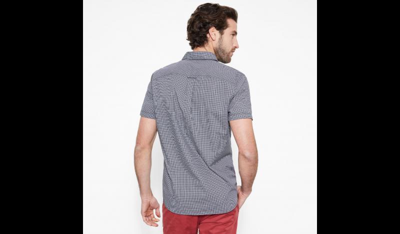 Рубашка с коротким рукавом мужские Timberland SHORT SLEEVE CHECK POPLIN EBON TH5164 модные, 2017