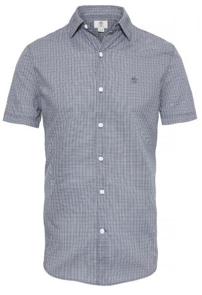Рубашка с коротким рукавом мужские Timberland SHORT SLEEVE CHECK POPLIN EBON TH5164 размерная сетка одежды, 2017