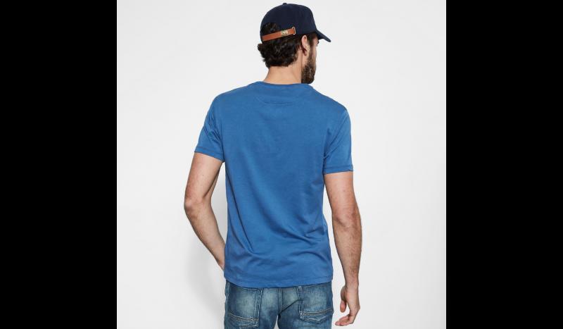 Футболка для мужчин Timberland DUNSTAN RVR V NEC TRUE BLUE TH5180 брендовая одежда, 2017