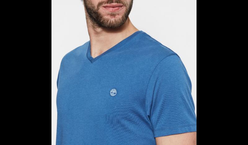 Футболка для мужчин Timberland DUNSTAN RVR V NEC TRUE BLUE TH5180 размеры одежды, 2017