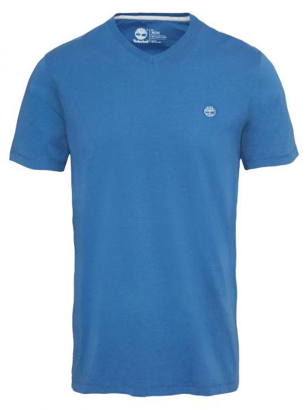 Футболка для мужчин Timberland DUNSTAN RVR V NEC TRUE BLUE TH5180 одежда бренда, 2017