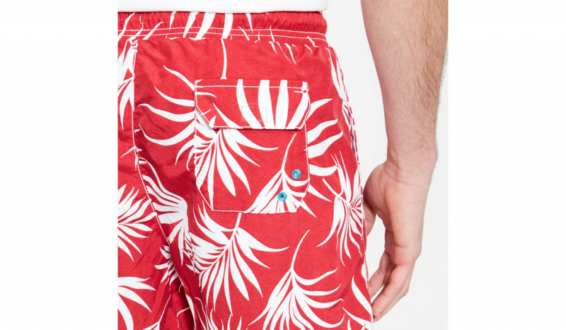 Шорты для плавания для мужчин Timberland SEAGULL BEACHWEAR RED FANTASY TH5233 размерная сетка одежды, 2017