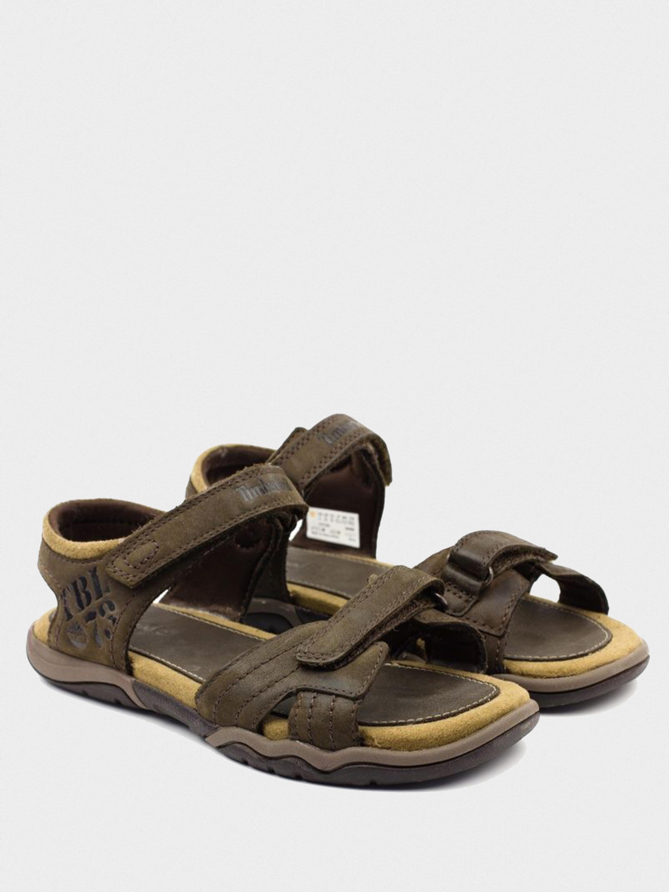 Сандалии для детей Timberland OAKBLFFSEKLTH2STRP D DARK BROW TL1244 брендовая обувь, 2017