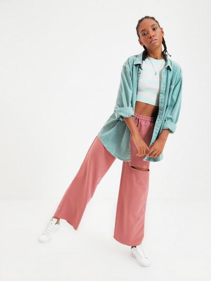 Спортивні штани Trendyol модель TWOAW21EA0116/Gul Kurusu — фото - INTERTOP