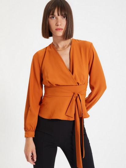 Блуза з довгим рукавом Trendyol модель TWOAW22BZ0098/Kiremit — фото 4 - INTERTOP