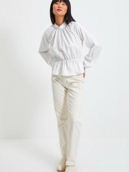 Блуза з довгим рукавом Trendyol модель TWOAW22BZ0101/Ekru — фото 2 - INTERTOP