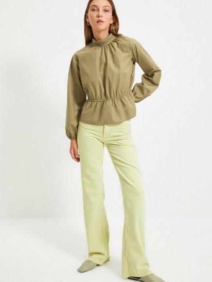 Блуза з довгим рукавом Trendyol модель TWOAW22BZ0101/Haki — фото 2 - INTERTOP