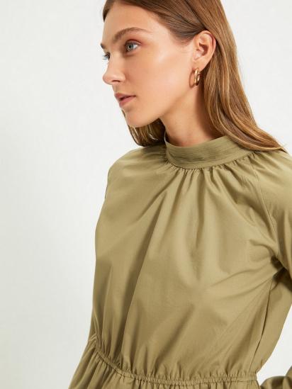 Блуза з довгим рукавом Trendyol модель TWOAW22BZ0101/Haki — фото 3 - INTERTOP