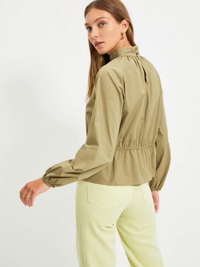 Блуза з довгим рукавом Trendyol модель TWOAW22BZ0101/Haki — фото 4 - INTERTOP
