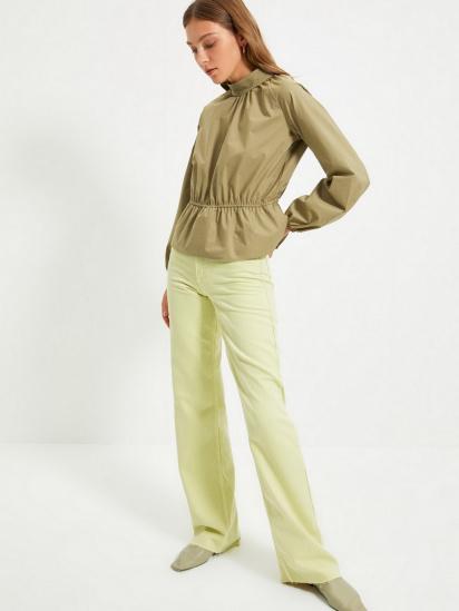 Блуза з довгим рукавом Trendyol модель TWOAW22BZ0101/Haki — фото 5 - INTERTOP