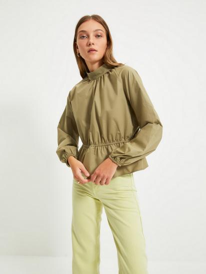 Блуза з довгим рукавом Trendyol модель TWOAW22BZ0101/Haki — фото - INTERTOP