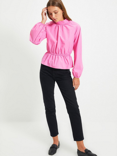 Блуза з довгим рукавом Trendyol модель TWOAW22BZ0101/Pembe — фото 2 - INTERTOP